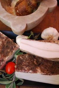 Der berühmte Lardo - Spezialität der Toskana