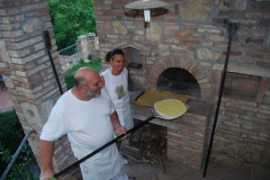 Pizzaabend auf dem Weingut Toskana