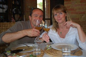 Selbstgemachter  Wein Toskana