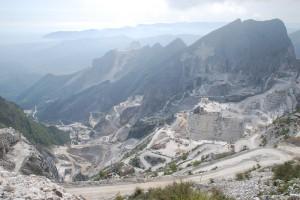 Ausblick Carrara Marmorsteinbrüche