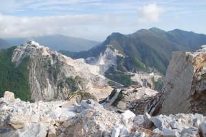 Marmorsteinbrüche Carrara mit dem Jeep
