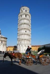 ... der gerade Turm von Pisa